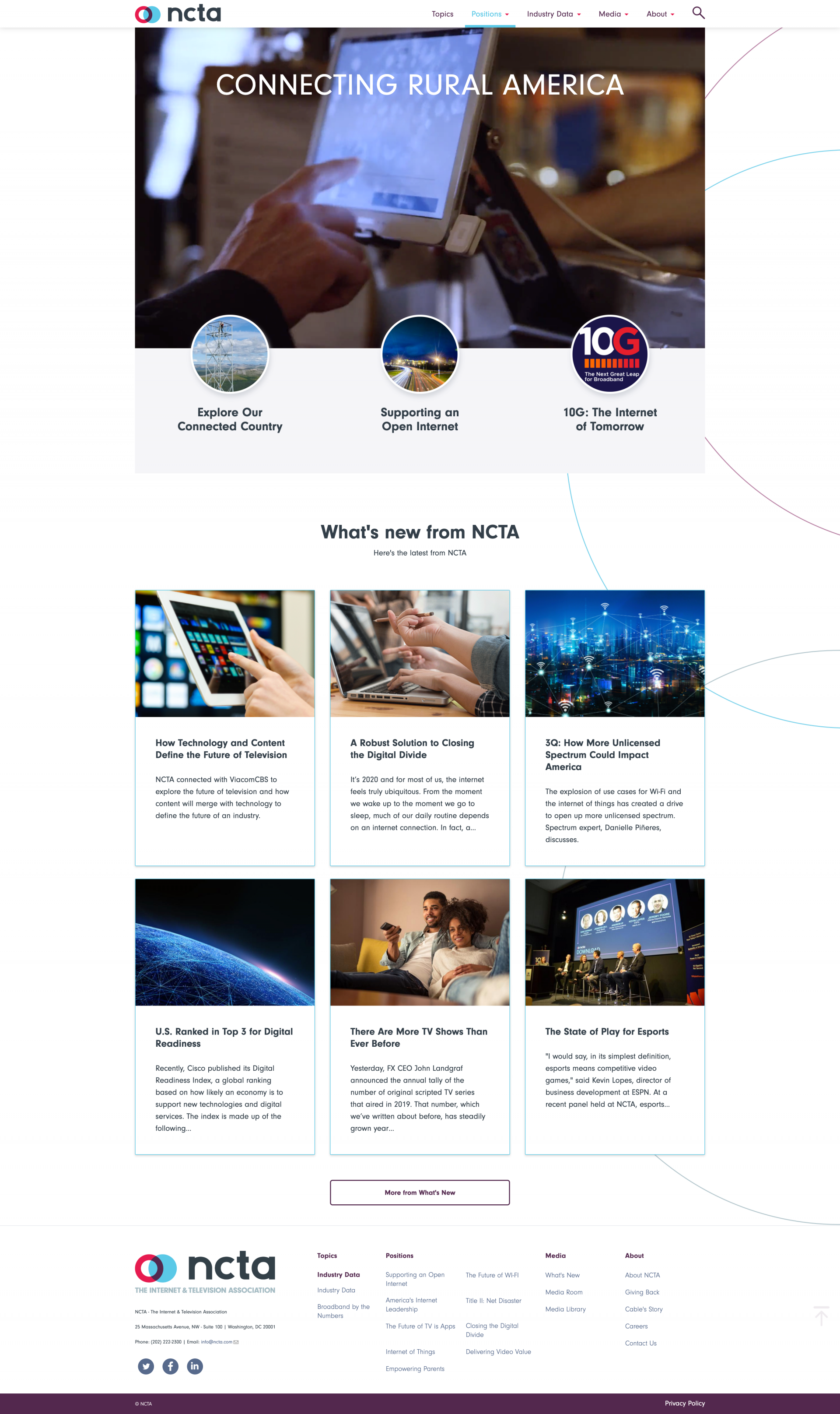 NCTA corporate website - Deventor portfolio 1